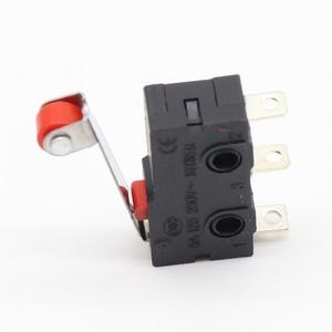 Image 2 - Mini Micro interruptor de límite, brazo de palanca de rodillo, SPDT, lote de acción a presión, 10 Uds.