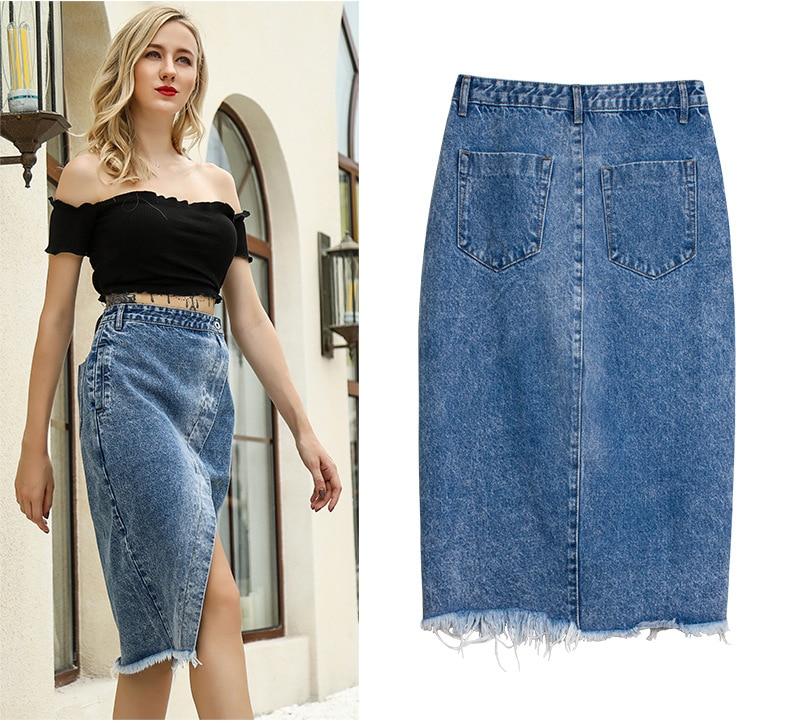 Skirt of female skirt hairline furl furl to wrap hip bull-puncher skirt irregular tassel tall waist skirt of halter MIDI skirt (16)
