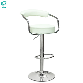 94130 Barneo N-91 Leather Kitchen Breakfast Bar Stool Swivel Bar Chair cream color free shipping in Russia