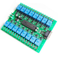 Computer RS232 serial port control / 16 way relay / industrial control board / 12V / 24V smart home accessories