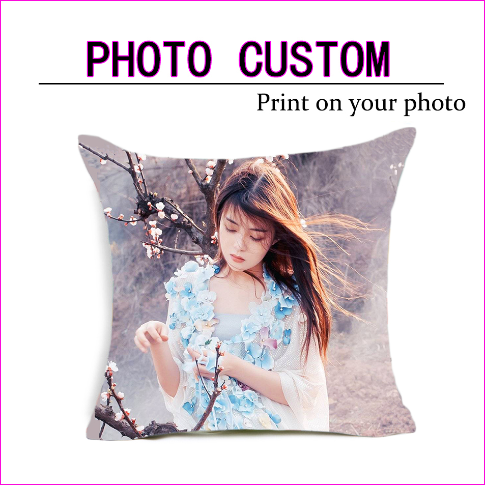 Fahion Design Picture Here Print, Pet ,wedding Personal Life Photos Customize Gift Home Cushion Cover Pillowcase Pillow Cover
