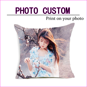 Fahion Design Picture here Print, Pet ,wedding personal life photos customize gift home cushion cover pillowcase Pillow cover(China)