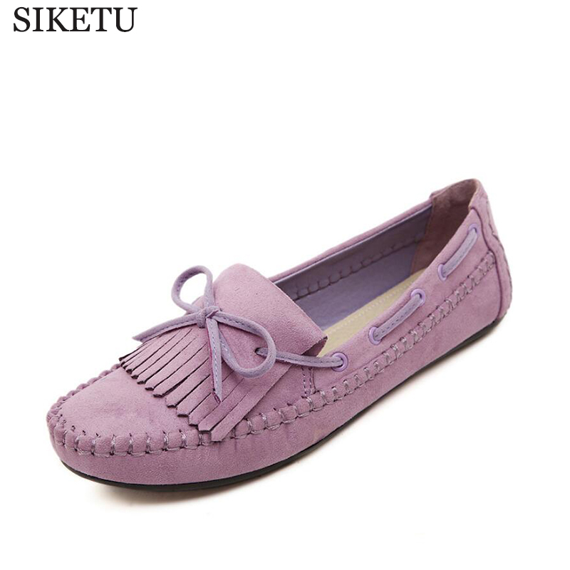 2017 Large size zapatos mujer Fashion Style women flats Genuine tassel Leather shoes women loafers ballet flat shoes s143 casual ballet leopard pattern non leather flat shoes women fashion boat shoes zapatos mujer tacon sapato flats large size 4 16