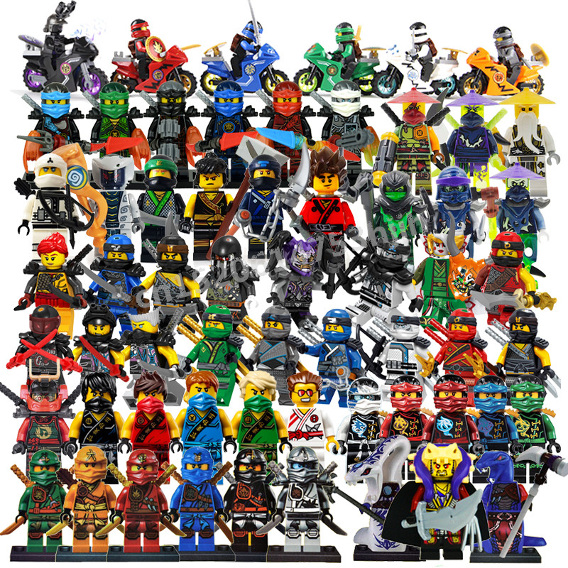 2018 Compatible LegoINGlys NinjagoING Sets NINJA Heroes Kai Jay Cole Zane Nya Lloyd With Weapons Action Toys For Children