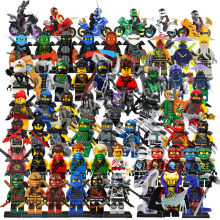 2018 Compatible LegoINGlys NinjagoING Sets NINJA Heroes Kai Jay Cole Zane Nya Lloyd With Weapons Action Toys For Children(China)