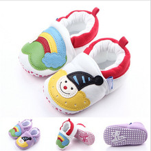 2016 Lovely Snowman Baby Shoes Infant Toddler Prewalker Bebe Footwear Boys Girls Soft Sole Crib Shoes