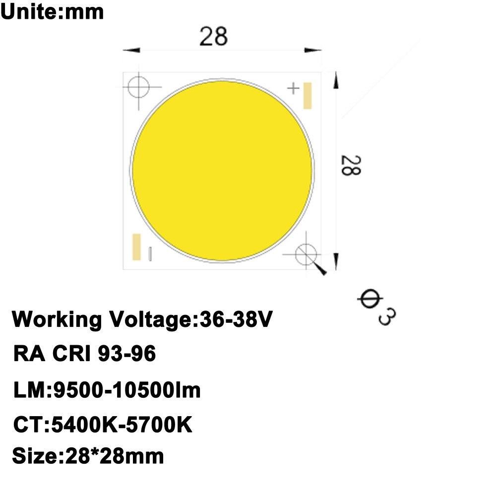 MARSWALLED High CRI 90 High Power Density COB LED Daylight White DC36 38V 2 5A 100W