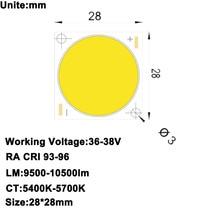 MARSWAL светодиодный высокий CRI 90 + Высокое Мощность плотность УДАРА СВЕТОДИОДНЫЙ дневной белый DC36-38V 2.5A 100 Вт 10000LM для потока свет DIY светодиодный свет этапа