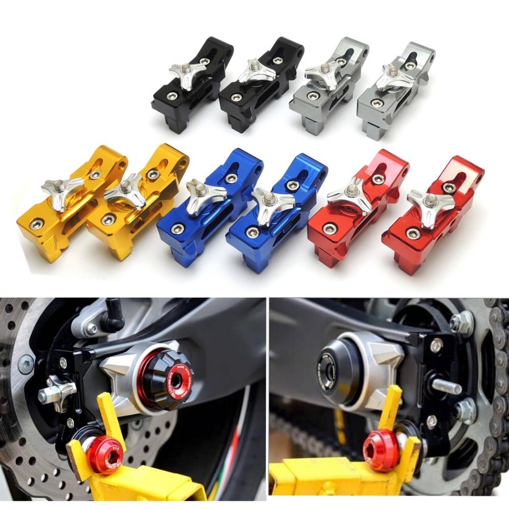For Yamaha MT-07 MT07 2014-2015 Chain Adjuster with bracket for spool--5 color for option for yamaha mt 03 2015 2016 mt 25 2015 2016 mobile phone navigation bracket