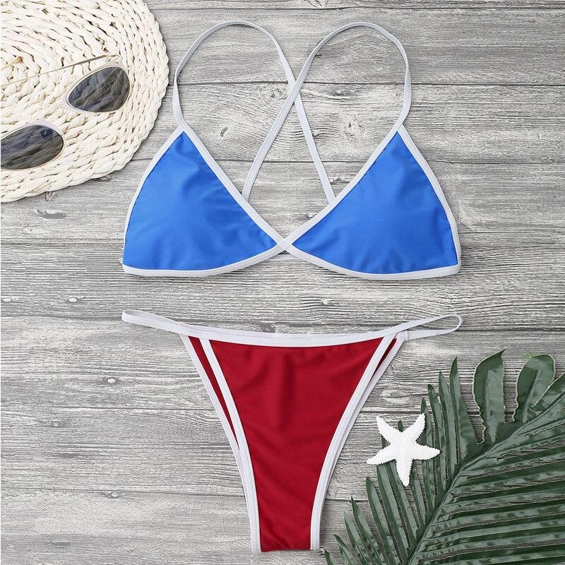 2018 Bikini Set Multi-color Swimwear Women Sexy Bench Swimsuit Bathing Suit Thong Biquini Brazilian Maillot De Bain