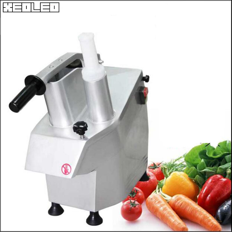 XEOLEO Multi-function Vegetable machine Commercial Dicing machine Potato/Tomato Slicer ElectricCheese shredder Vegetable Chopper commercial tomato