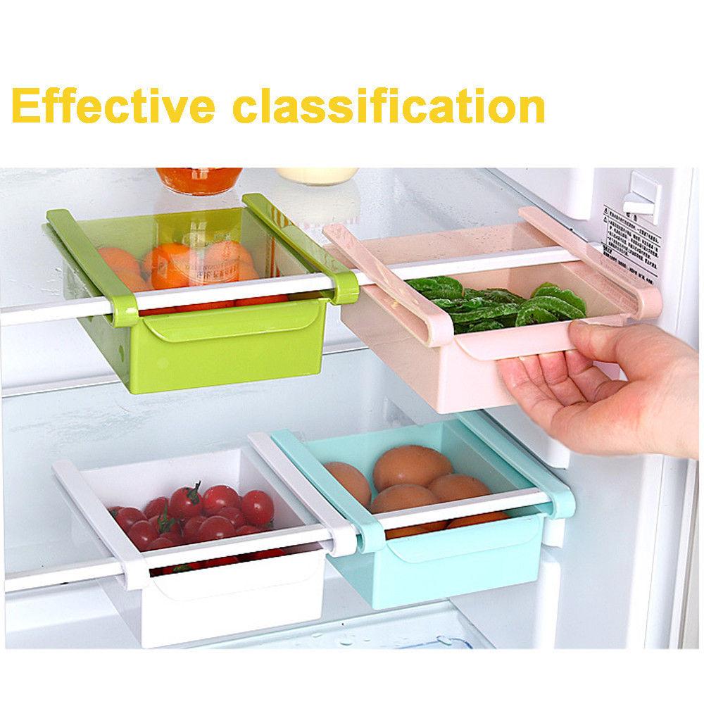 Image 5 - New Square Refrigerator Storage Box Fresh Spacer Layer Storage Rack Drawer Sort Kitchen Accessories Hanging Organizer-in Storage Boxes & Bins from Home & Garden