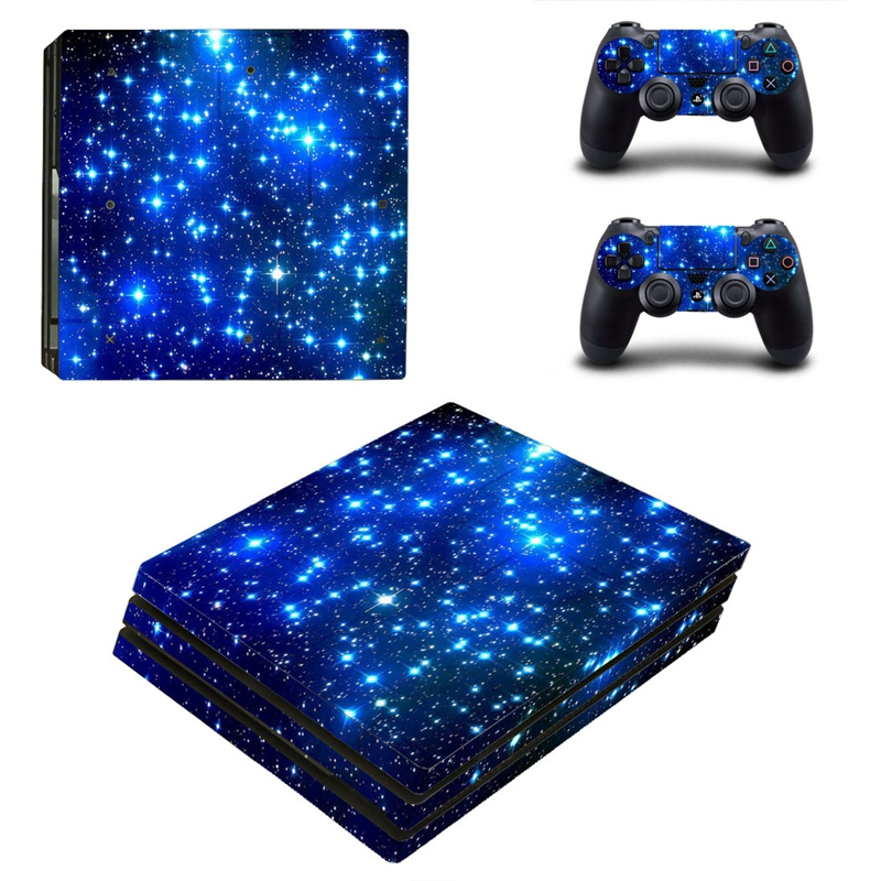 HOMEREALLY PS4 Pro Skin The Blue Sky Vinly PVC Sticker Cover For Playstaion 4 Pro Console and Controller Skin Ps4 Pro Accessory