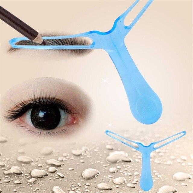 Eyebrow Template Stencil Grooming Shaping Helper DIY Makeup Tool Beauty Make up Kit Reusable Eyebrow Drawing Guide Template 2