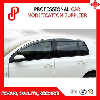 High Quality Injection molding trim vent shade rain sun wind deflector window visor for Golf 4 Golf 6 Golf 7