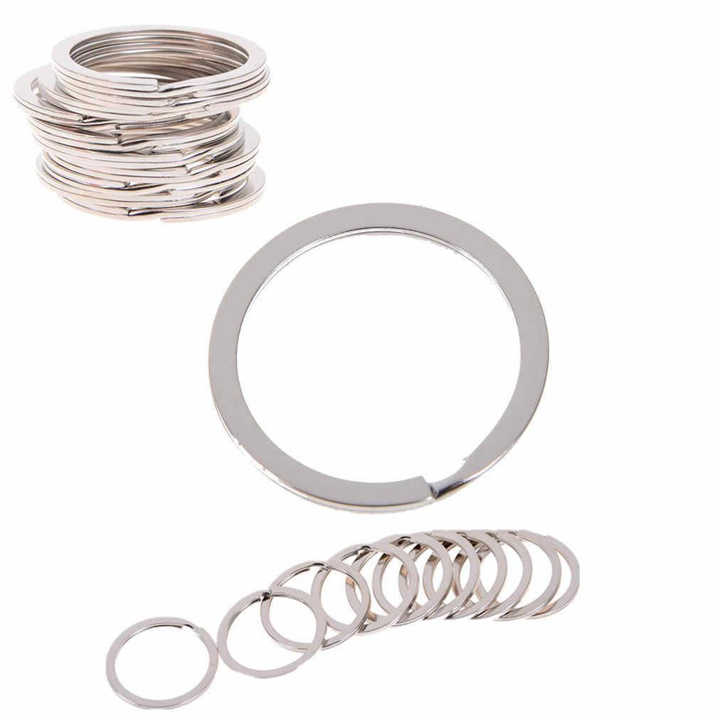 10 pçs/lote Divisão Lindo Tom de Prata Split Rings Rings Chave 1.5x25 milímetros Achados Atacado 1.5*25mm