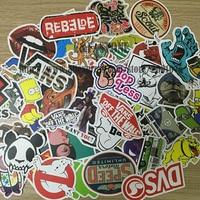 100pcs Pack DIY Waterproof Funny Laptop Car Stickers For Trunk Skateboard Guitar Fridge Decal Random Mixed