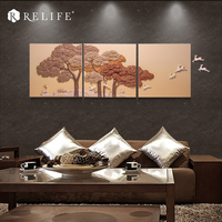 100% ручной росписью лесной пейзаж модульная фотографии на стене Домашний Декор Картины