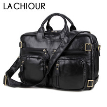 Large Size Genuine Leather Men Business Travel Messenger Bags Handbags for Fashion Office Documents Pack