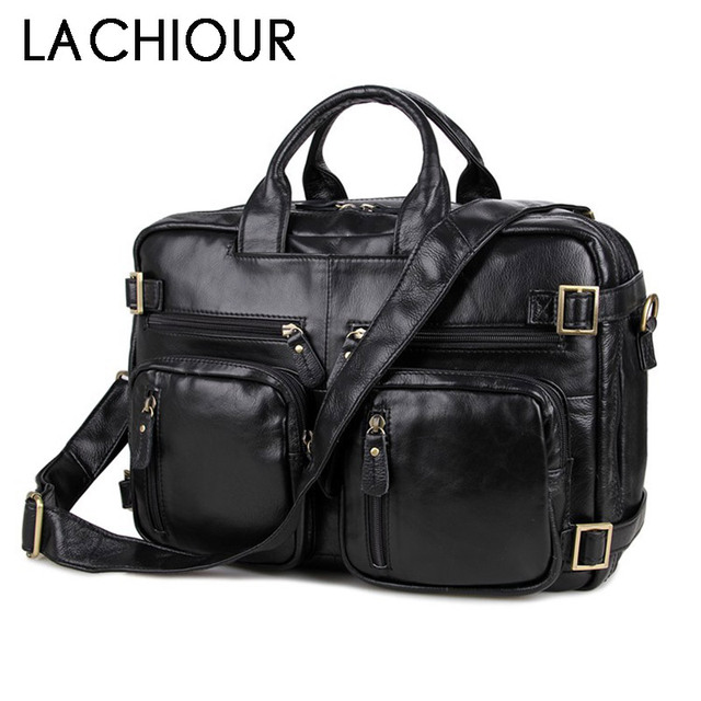 Large Size Genuine Leather Men Business Travel Messenger Bags Leather Handbags for Men Fashion Office Documents Pack Bags