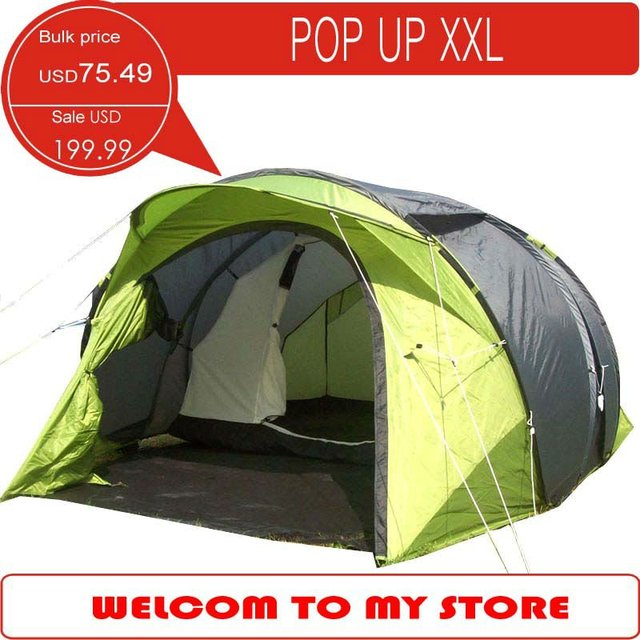 Large Pop Up Camping Tent 4 Person Family Very Special Outdoor With
