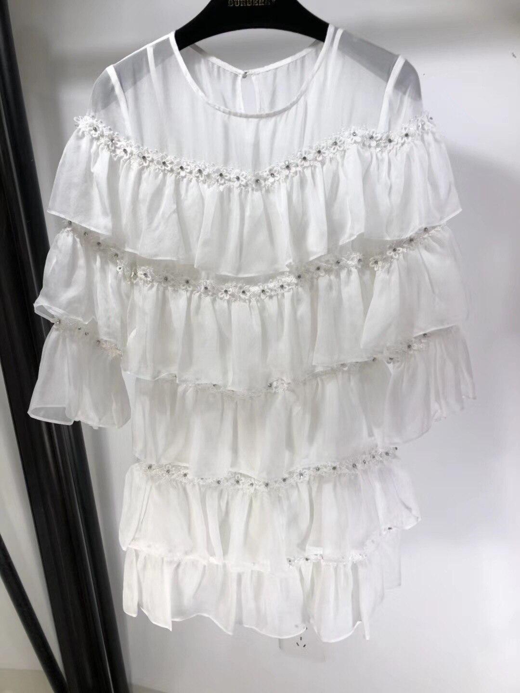 2019 nowy jedwabny diament szpilki długi rękaw okrągły kołnierzyk Super luksusowe suknie dla kobiet darmowawysyłka w Suknie od Odzież damska na  Grupa 1