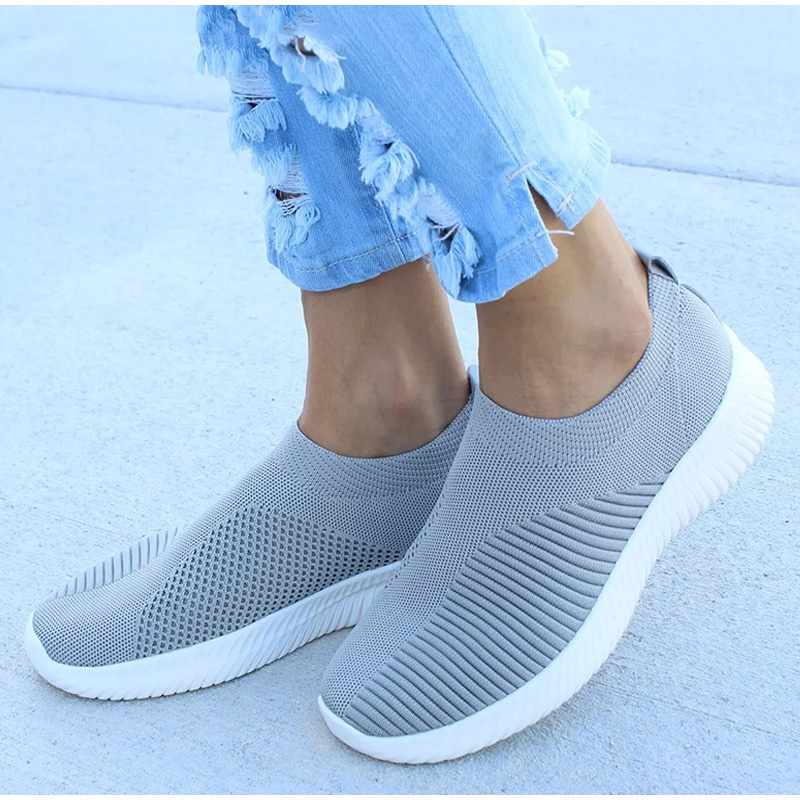 Knitted Vulcanized Women Sneakers