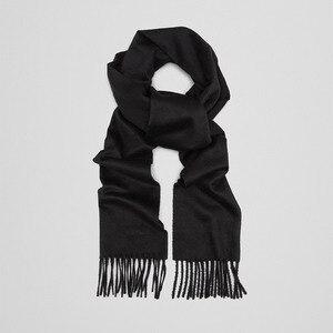 Image 2 - 레오 anvi 100% 양모 캐시미어 겨울 스카프 남성 여성 패션 shawls echarpe 남성 고품질 솔리드 스카프 가을 두건