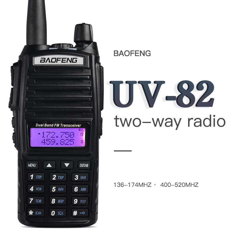 Walkie Talkie BaoFeng UV-82 Dual-Band 136-174/400-520 MHz FM szynki Two Way Radio, nadajnik/odbiornik, Walkie Talkie