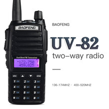 Talkie-walkie BaoFeng UV-82 double bande 136-174/400-520 MHz FM Radio bidirectionnelle, émetteur-récepteur, talkie-walkie(China)