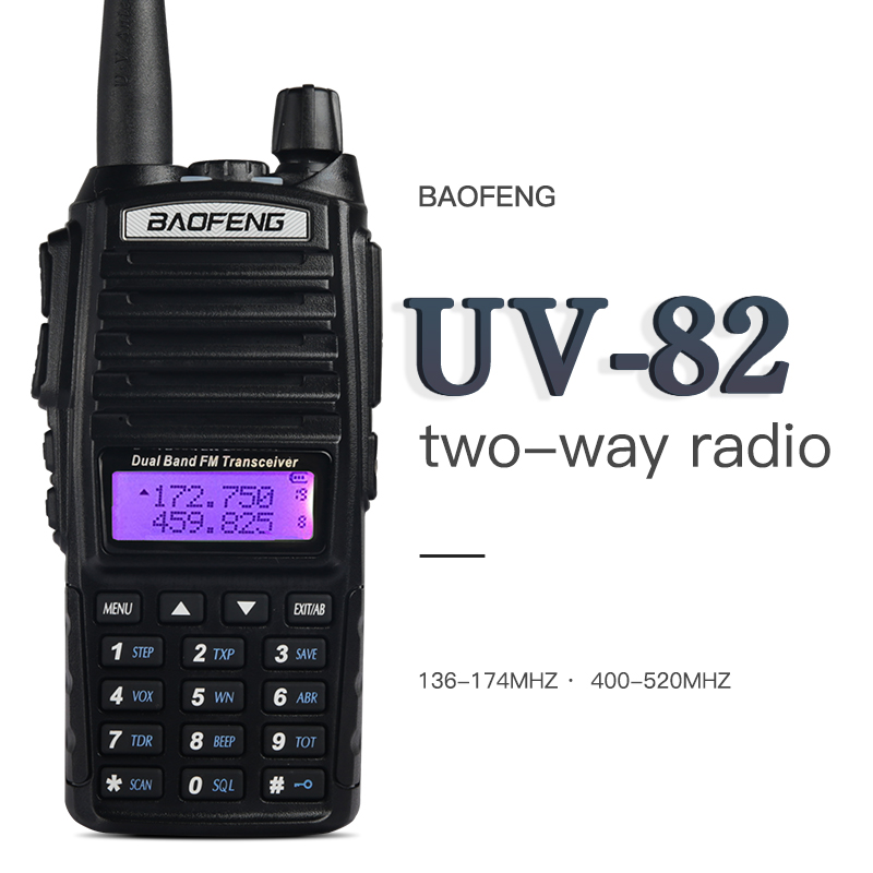 Talkie-walkie BaoFeng UV-82 double bande 136-174/400-520 MHz FM Radio bidirectionnelle, émetteur-récepteur, talkie-walkie