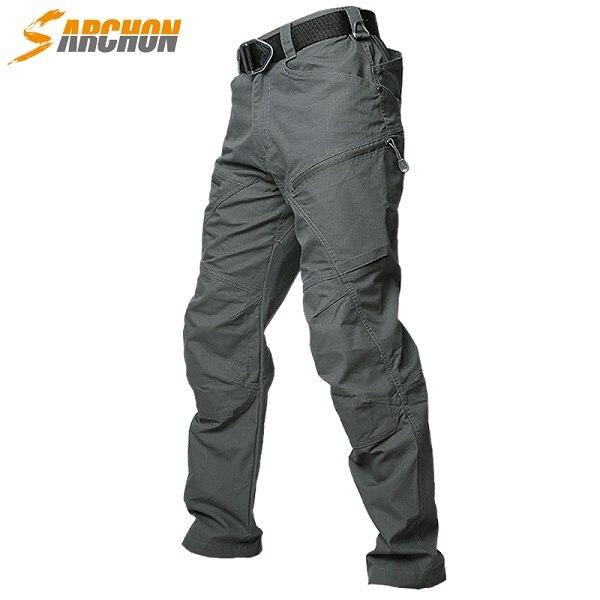 Hommes US armée soldat SWAT Combat pantalon homme poche coton coupe-vent tactique pantalon imperméable militaire Cargo pantalon