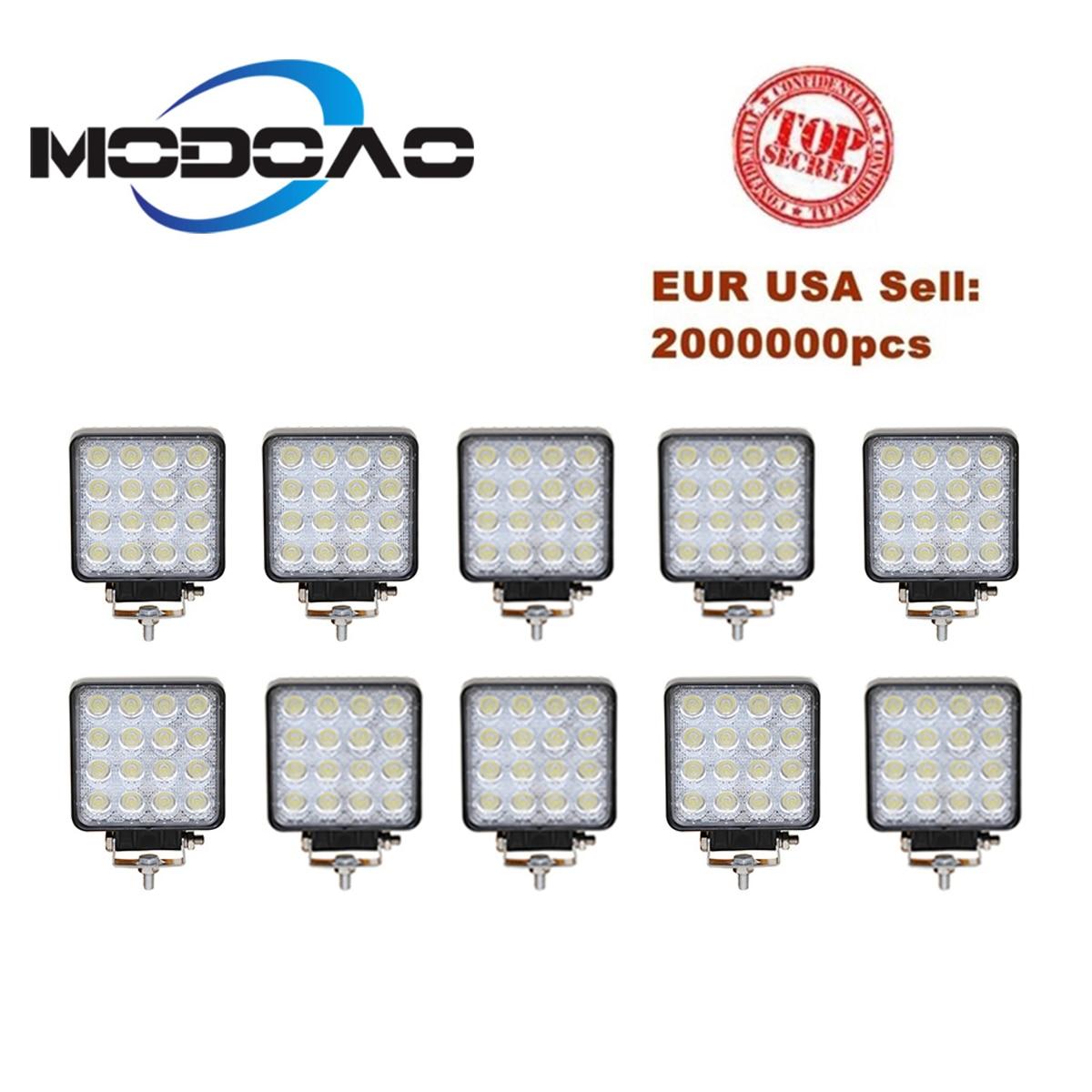 10 pcs Vehicel Faróis 16 300leds Cool White 12 V 24 V 4 polegada Veículo Barra de Luz Luz de Trabalho LED caminhão Para Offroad SUV Jeep ATV UAZ