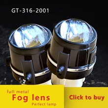 GZTOPHID Car Styling Accessories Projector Single Xenon Fog Lens For MAZDA ,H8 H9 H11 12V  35W 6000K Front bumper lights