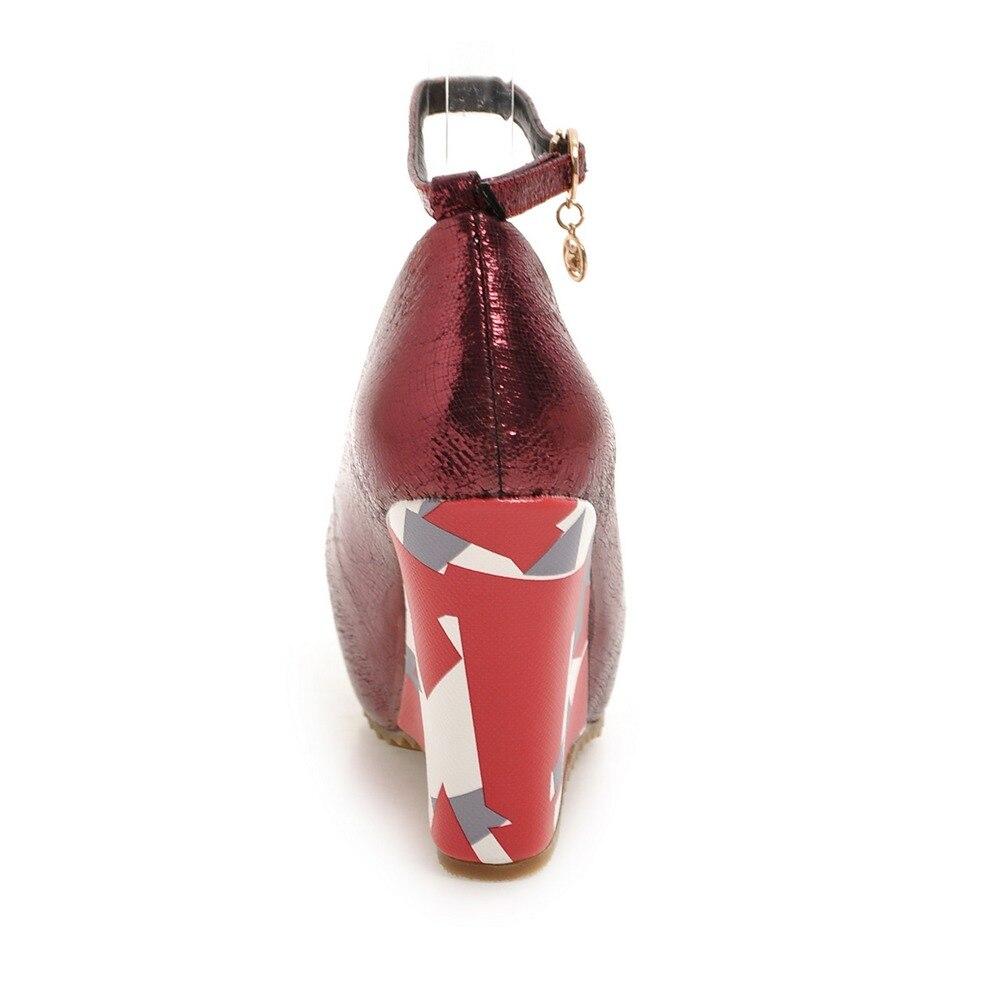 Talons gun Chaussures Casual Noir argent Hauts Cheville Élégant rouge Nemaone forme Pompes Plate Nouvelle Femmes Mode Coins Femme Sangle OnXfSwxUq1