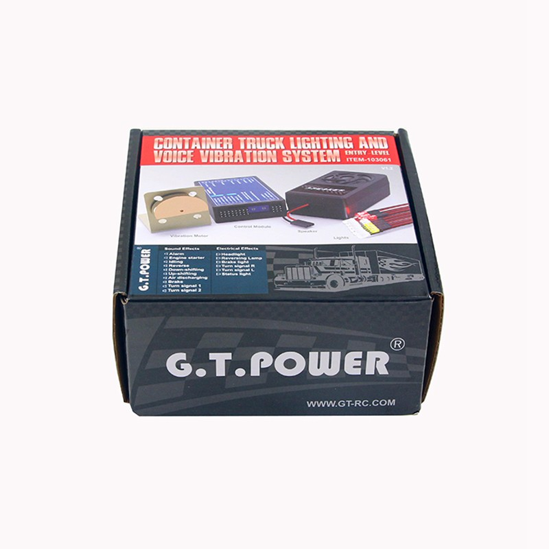 G.T.POWER Container Truck Lighting and Voice Vibration System for RC trucks cars