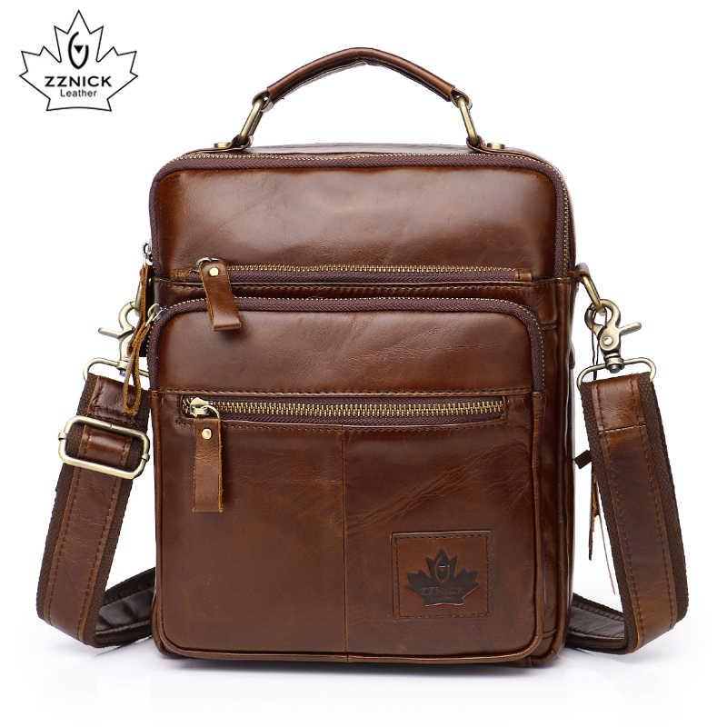 5acb0aed8cca Мужская сумка из натуральной коровьей кожи через плечо мужская сумка- мессенджер модная кожаная мужская деловая