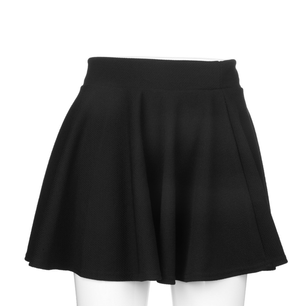 High Waist Pleated Skirt Black Mini Skirt Sexy Skirt For Girl Lady Korean Short Skater Women Clothing Bottoms Black Winter 2019