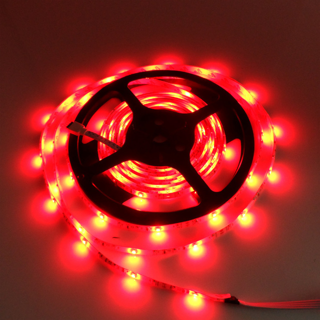 FREE SHIPPING! 5M Waterproof RGB 3528 SMD LED Strip 300 LEDs Light Lamp+IR Remote+12v 2APower Supply