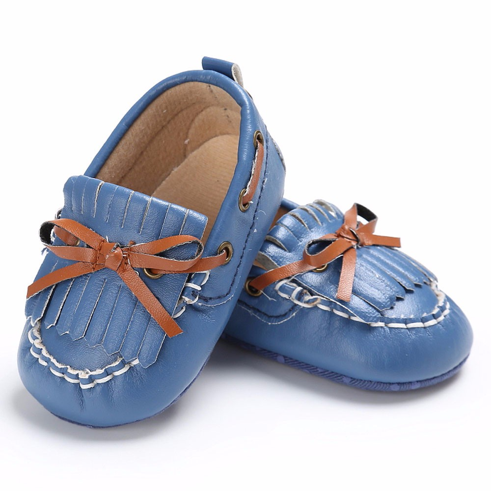 Newborn Leather Crib Soft Sole Shoe Sneakers Baby Shoes Boy Girl Butterfly-knot baby born doll shoes