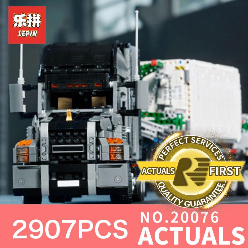 Lepin 20076 2907Pcs Genuine Technic Series The Mack Big Truck Set 42078 Building Blocks Bricks Educational Toys For Children lepin 20076 genuine 2907pcs technic