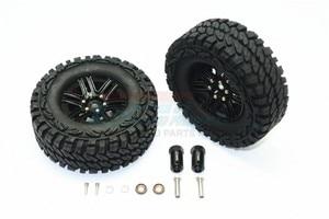 Image 3 - TRX TRX 4 TRX4 82056 4 Алюминиевый сплав 6 полюсные колеса и гусеничная шина + 21 мм шестигранный адаптер набор TRX4689/21 мм
