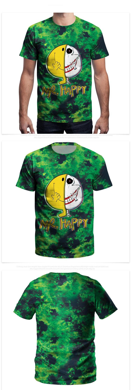 2018 Summer New Men's T-shirts Euramerican Hip-hop Printing Loose Short Sleeve T-shirts