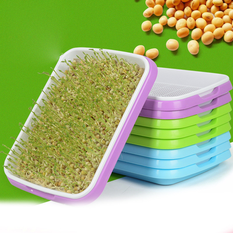 Hydroponics Seed Germination Tray Seedling Tray Sprout Plate Grow Nursery Pots Tray Vegetable Seedling Pot Plastic Nursery Tray