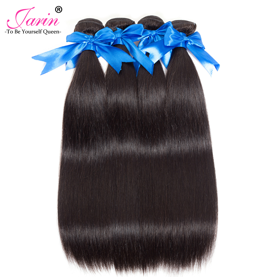 Image 4 - 3 Bundles With Lace Frontal Brazilian Straight Human Hair Weave With 13x4 Lace Closure Remy Jarin Hair Extension Natrual Color-in 3/4 Bundles with Closure from Hair Extensions & Wigs
