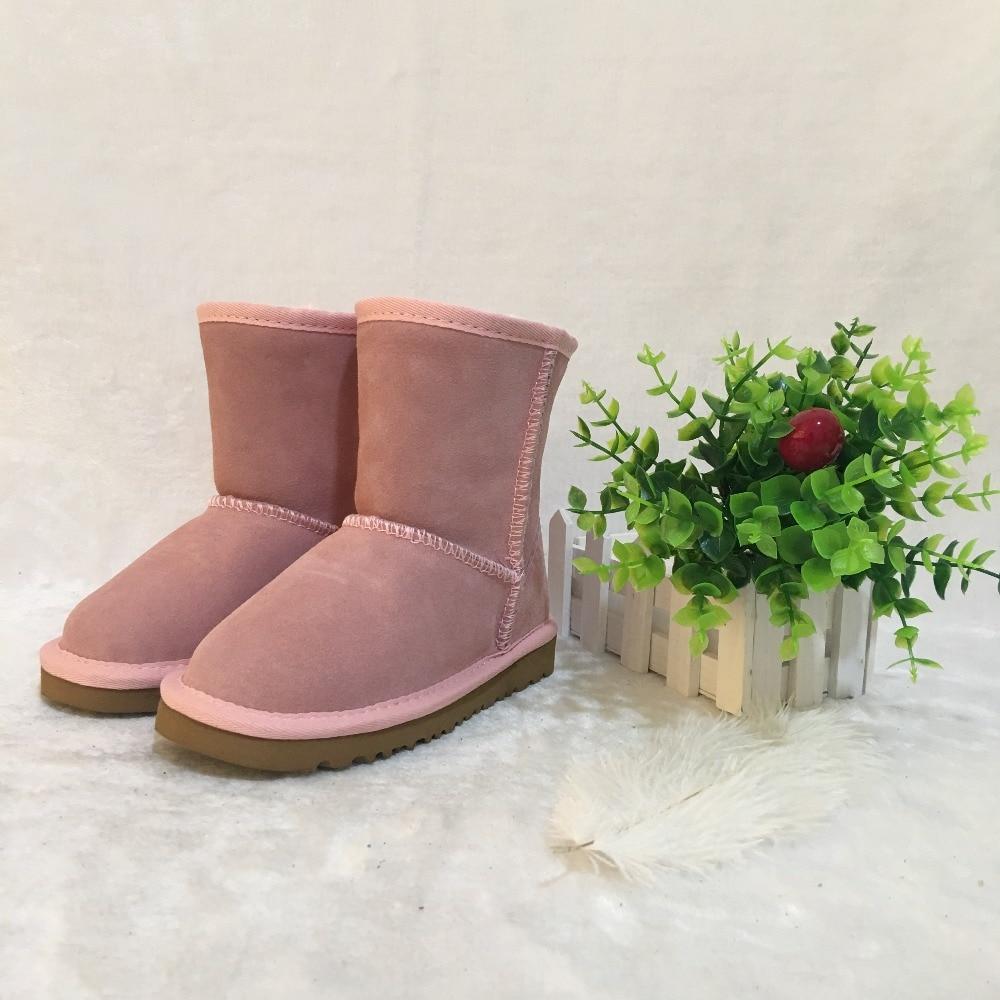 EU21-35 для мальчиков и девочек в австралийском стиле Классические из натуральной кожи зимние сапоги брендовые IVG родителей обувь