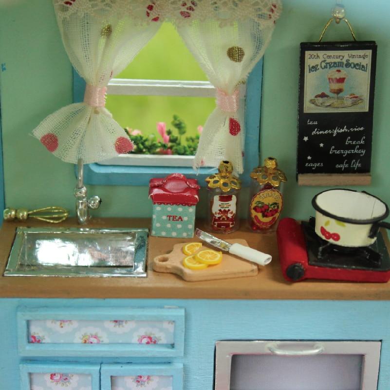 Жиһаз DIY қуыршақ үйі Wodden Miniatura Doll - Қуыршақтар мен керек-жарақтар - фото 5