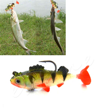 OOTDTY New Paillette Fishing Hook with Soft Baits Lures Crankbaits Tackle