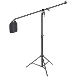 Neewer Photo Studio 2-in-1 Light Stand 48.4-151.5 inches Adjustable Height with 85-inch Boom Arm and Sandbag, Aluminum Alloy