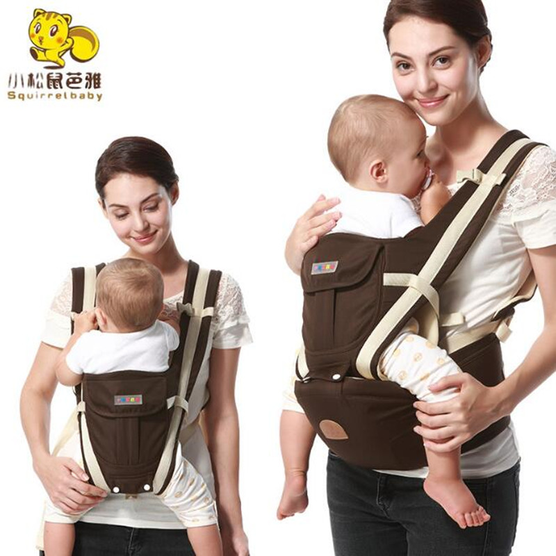 8 in 1 Ergonomic Baby Carrier sling 2017 Breathable baby kangaroo hipseat backpacks carriers removeable backpack sling brand ergonomic baby carrier breathable front facing infant baby sling backpack pouch wrap baby kangaroo for baby newborn sling